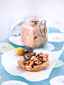 Potted Tuna With Black And Green Olives