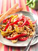 Piperade (Paprika-Tomaten-Gemüse mit Ei, Baskenland)