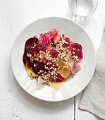Buckwheat,Beetroot And Grapefruit Salad