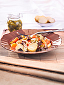 Pot-Au-Feu Salad Made With Left-Overs