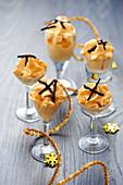 Pumpkin Espuma with thinly sliced truffles