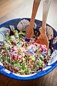 Millet,beetroot,herb and borage salad