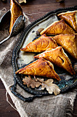 Cinnamon-flavored apple turnovers