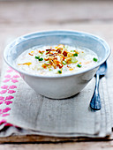 Congee with pumpkin and peanuts