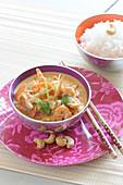Coconut milk shrimp curry