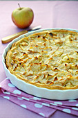Tarte normande aux pommes ,Normandy apple pie
