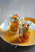 Mussel and pepper jars