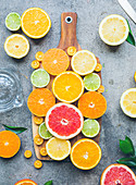 Citrus fruit platter