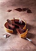 Easter chocolate ganache tart and tuiles
