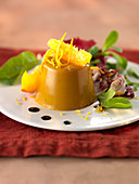 Pumpkin aspic with orange