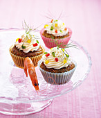 Pepper and shrimp salty cupcakes