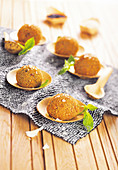 Spicy black rice croquettes