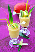 Passionfruit,mango and pineapple exotic smoothie