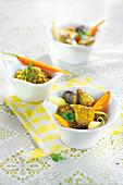 Pot-au-Feu mit Kalbfleisch und Kurkuma