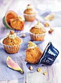 Fig,walnut and hazelnut cupcakes