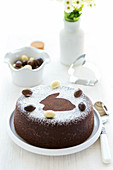 Black & white rabbit Easter cake