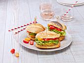 Falafel,avocado and cherry tomato sandwiches