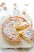 Apple and almond sliced tart