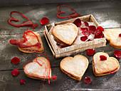 Saint Valentine's sandwich biscuits