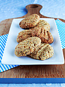 Sesame and poppy seed shortbread biscuits