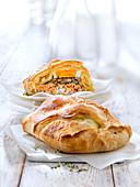 Koulibiac de saumon  (Lachs-Spinat-Pastete, Russland)