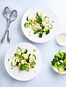 Risotto mit Brokkoli und Zucchini, laktosefrei und ohne Butter