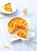 Butternusskürbis-Tarte, laktosefrei und ohne Butter