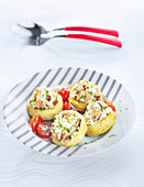 Artichokes stuffed with sardine rillettes
