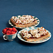 Strawberry Tagada waffles