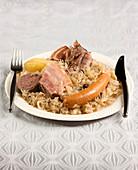 Choucroute,garnished sauerkraut