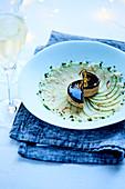 Duck foie gras terrine,Ratafia de Champagne aspic