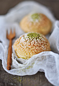 Green Matcha tea Choux Craquelin