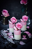 Rose and cardamom marshmallow mousse