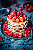 Berry and Nutella pancakes
