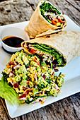 Rice And Vegetable Tortilla,Broccoli And Smoked Pork Salad,Harbour Island,Bahamas