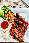 Sweet And Sour Marinated And Grilled Pork Chops,Bahamas Coffee Roasters, Harbour Island, Bahamas