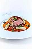 Lamb Fillet In Truffle Crust,Salsifies,Sauce Périgueux,Ritz-Escoffier School