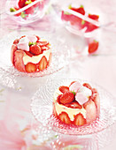 Strawberry And Marshmallow Charlotte