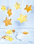 Star Shortbreads Hanging