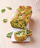 Braided Spinach Brioche