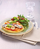 Thin Anchovy,Tomato Ad Onion Tart