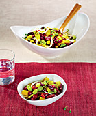 Red Kidney Bean,Broad Bean And Pepper Salad