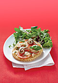 Tomato And Anchovy Thin Tart