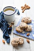 Okara,Almond And Chocolate Chip Cookies