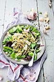 Spaghettis And Herb Salad
