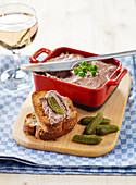 Chicken Liver Mousse And Toasts