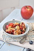 Apple And Blueberry Muesli Crumble