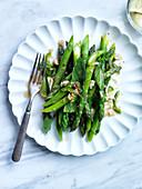 Asparagus Salad with Kaffir Lime, Peanuts and Mint