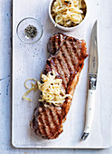 Steak with onion compote and cloves