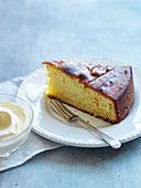 Piece of olive oil cake